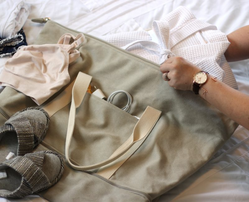 Packing for the Hospital with Lo & Sons Catalina Weekender Bag